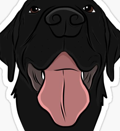 Happy Black Lab Sticker