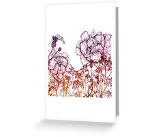 Ombre peony pattern Greeting Card