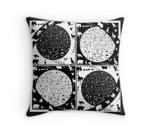 ANIMALS NIGHT AND DAY  Throw Pillow
