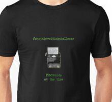 Monthly Writing Challenge (typewriter) - on black Unisex T-Shirt