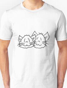 face head 2 brothers buddies team liebespaar sweet cute kitten fluffy fur T-Shirt