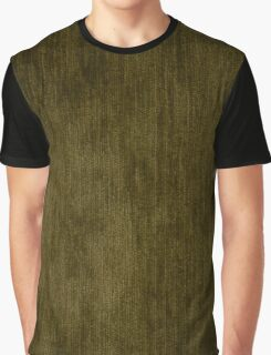 Green fabric texture Graphic T-Shirt