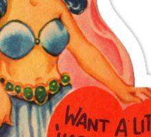 Vintage Valentine Harem Girl Sticker