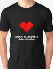 Undertale - Determination - Black T-Shirt