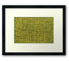 Green fabric texture Framed Print