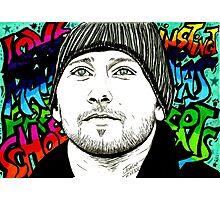 Matthias Schoenaerts graffiti style Photographic Print