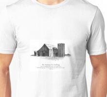 Bible Verse: Philippians, Do Not Be Anxious, Pencil Art: Barn Unisex T-Shirt