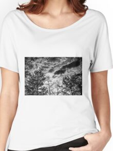 Black and White Tree Women's Relaxed Fit T-Shirt