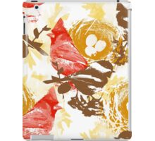 Cardinal Chickadee and Eggs in Nest iPad Case/Skin