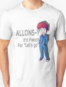 "Tenth Doctor - ""Allons-y!"" T-Shirt"