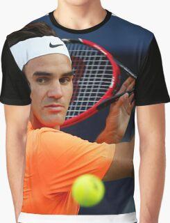 Roger Federer in action Graphic T-Shirt