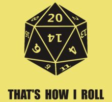 20 Sided Dice Roll Baby Tee