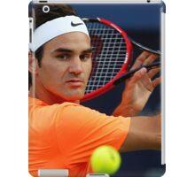 Roger Federer in action iPad Case/Skin
