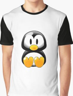 Cartoon Penguin Graphic T-Shirt