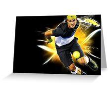 Rafael Nadal in action Greeting Card