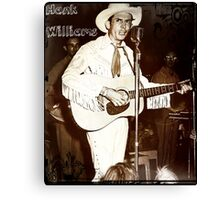 Hank Williams In Concert Canvas Print