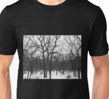 Stark Hamptons Winter Snowy Woods Unisex T-Shirt
