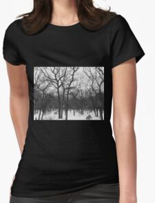 Stark Hamptons Winter Snowy Woods Womens Fitted T-Shirt