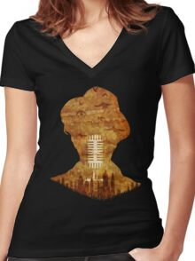 A Waits Podcast Women's Fitted V-Neck T-Shirt