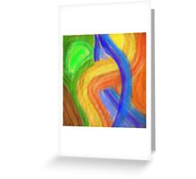 Colors in Arcs Greeting Card