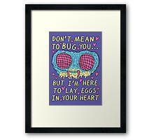 Bug Love Framed Print