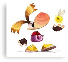 Rayman Cartoon Canvas Print
