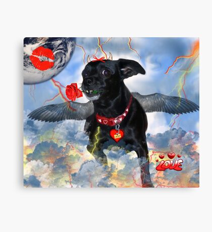 The Devil Cupid Dog That Came From Outer Space Canvas Print