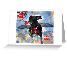 The Devil Cupid Dog That Came From Outer Space Greeting Card