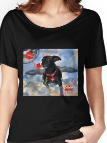 The Devil Cupid Dog That Came From Outer Space Women's Relaxed Fit T-Shirt