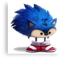 Baby Sonic Cartoon Canvas Print
