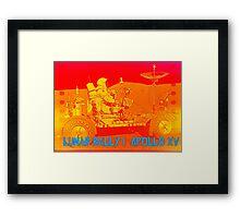 Lunar Rally 1:  Lunar Rover Apollo 15 Framed Print