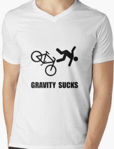 Gravity Sucks Bike Mens V-Neck T-Shirt