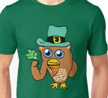 Owl Leprechaun Cartoon Unisex T-Shirt