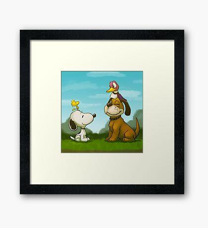 0034 - Bird Dogs Framed Print