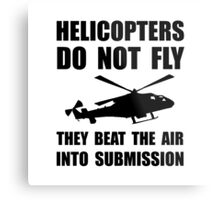 Helicopter Submission Metal Print