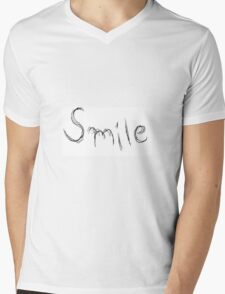 Smile Longways Mens V-Neck T-Shirt