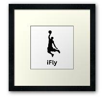 iFly Basketball Framed Print