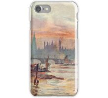 Westminster at Dusk in 1891  iPhone Case/Skin