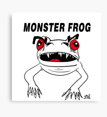 Monster Frog Design Canvas Print