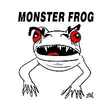 Monster Frog Design Photographic Print
