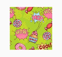 seamless pattern of donuts, candies and lollypops in popart style Classic T-Shirt