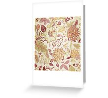 floral textile Greeting Card