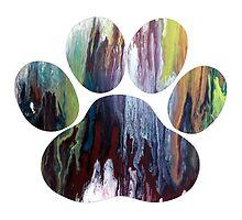 Dog paw print by MordaxFurritus