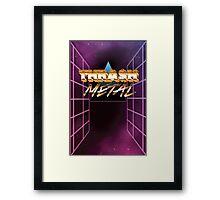Thrash Metal 80s Framed Print