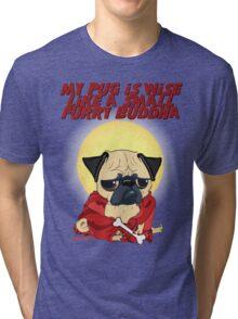 Buddha Pug Tri-blend T-Shirt