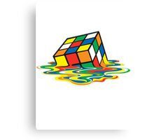 Rubik cube art Canvas Print