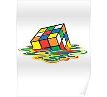 Rubik cube art Poster