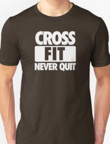 CROSS FIT NEVER QUIT - Alternate T-Shirt