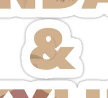 Kendall&Kylie Fan Art Sticker
