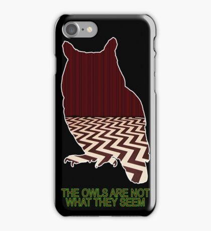 The Owls Are Not What They Seem iPhone Case/Skin